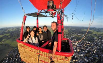 Hot air balloon trip for a private group