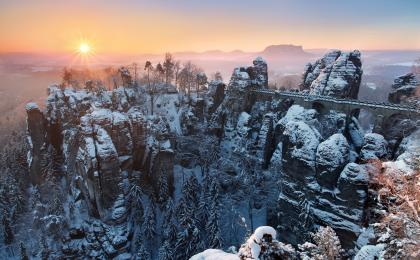 Bohemian Switzerland & Bastei Bridge winter hike