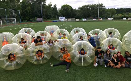 Bodyzorbing and bubble football in Prague