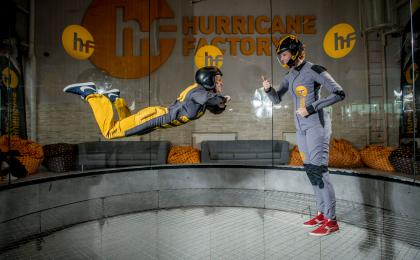Hurricane skydiving simulator