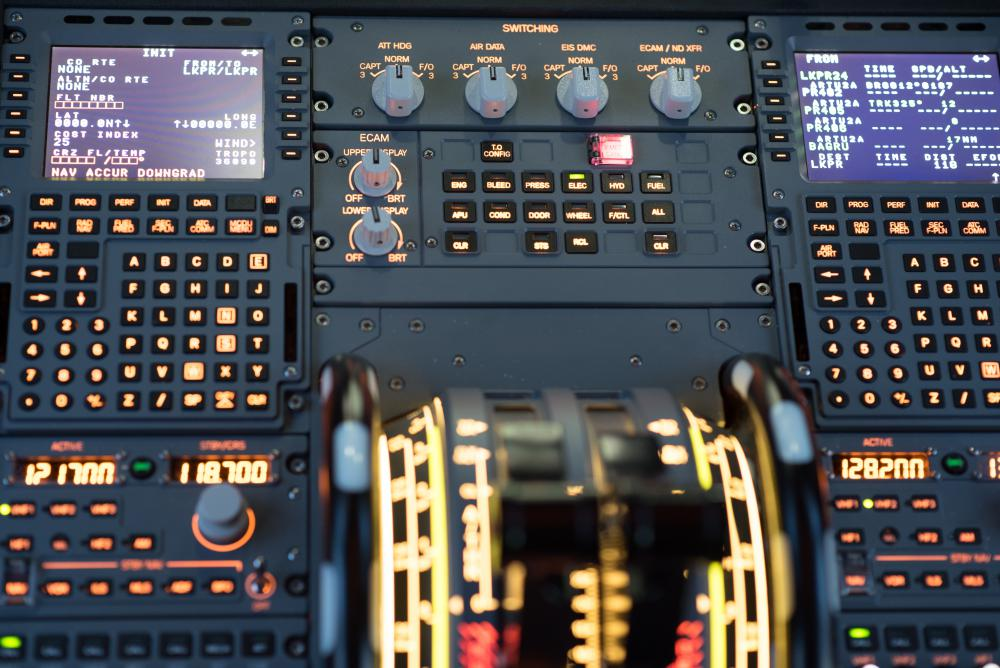 Pictures from Airbus A320 flight simulator