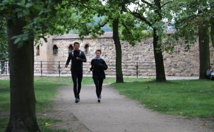 Running in Prague