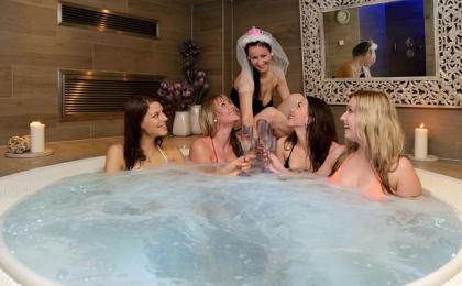 Hen party in whirlpool