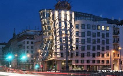The Dancing House by Frank Gehry
