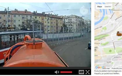 Live streaming of sightseeing: Prague tram