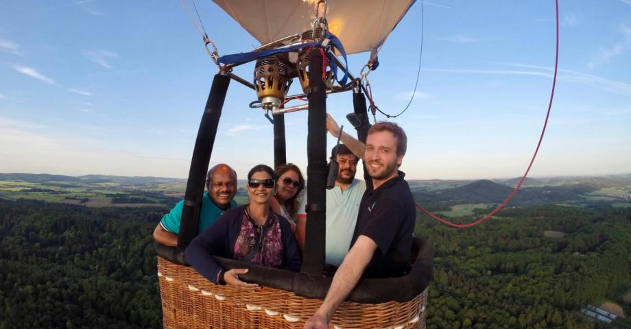 Private hot air balloon trip