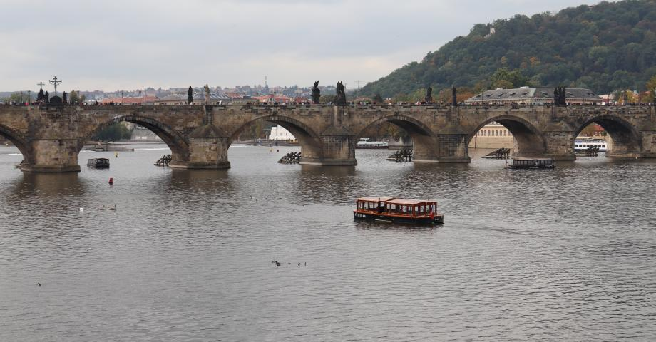 Family cruise on the Vltava river Prague - Charles Bridge