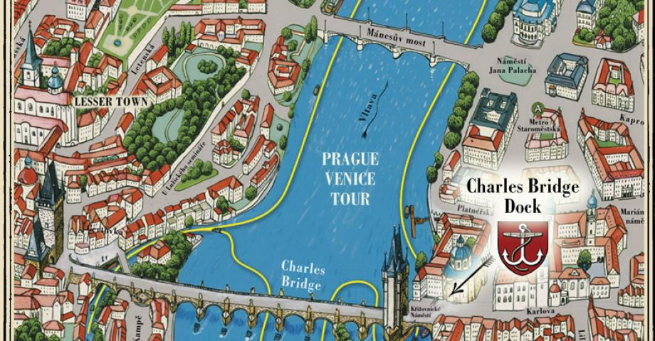 Prague river cruise map