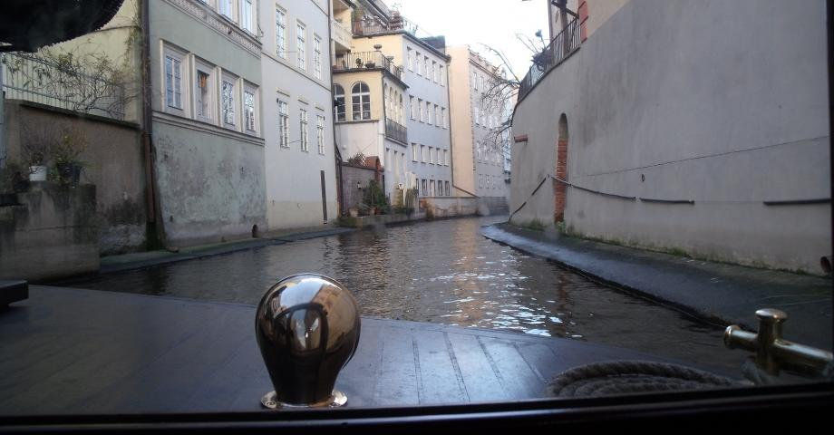 Prague Venice - entering the canal (photo by Rosie A.)