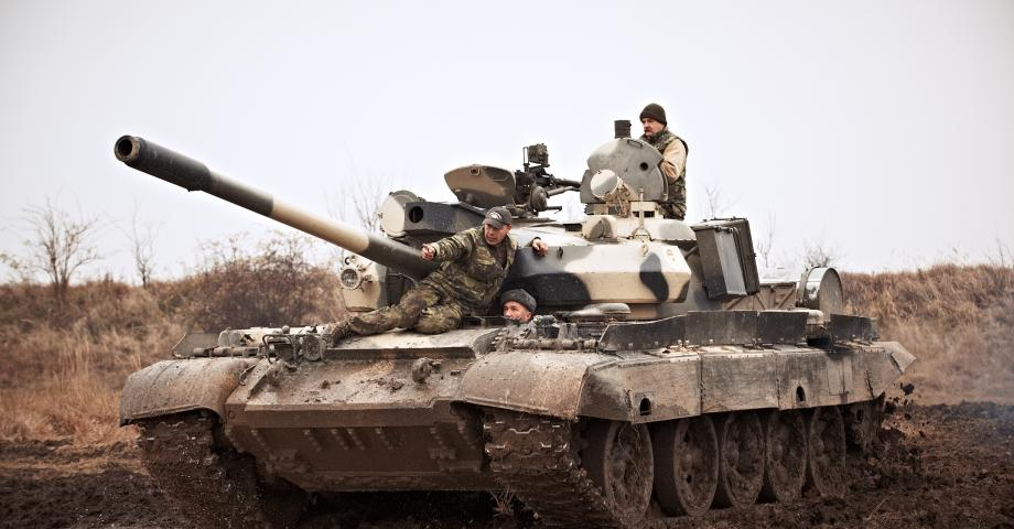 Tank driving experience T-55