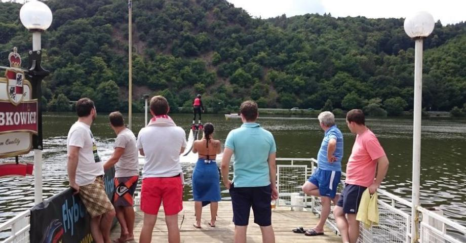 Flyboarding near Prague