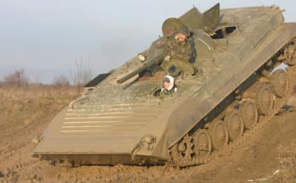 Military vehicle driving experience Prague