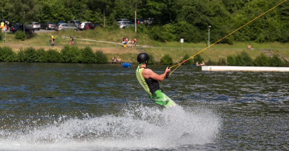 Water skiing in Prague