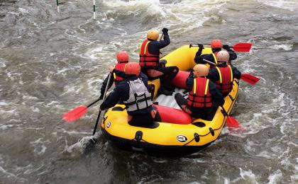 White water rafting Prague