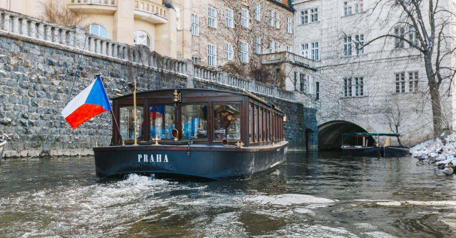 Prague river cruise on the Vltava river
