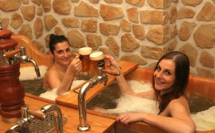 Prague beer spa and massage