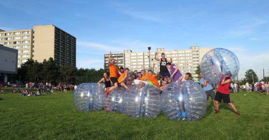 Bodyzorbing and bubble football in Prague - outdoor
