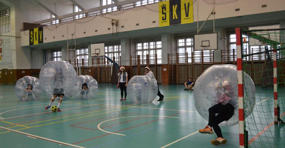 Bodyzorbing and bubble football in Prague - indoor
