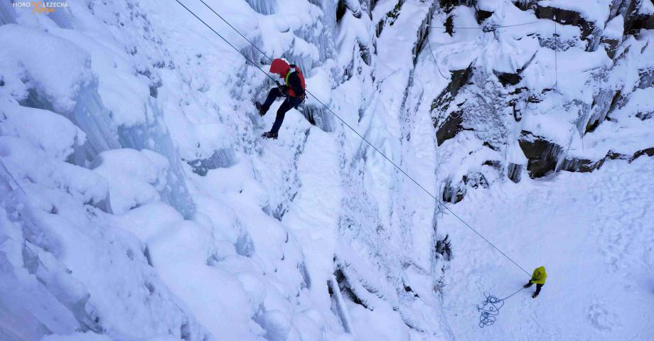 Ice climbing near Prague