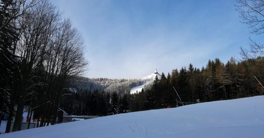 Snowboarding or skiing near Prague - Ještěd