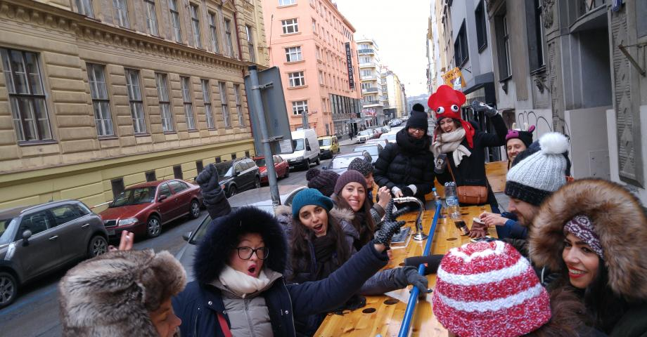 Prosecco bike in Prague