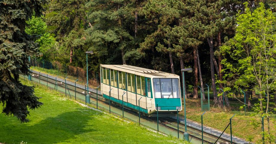 Funicular to the Petřín Tower