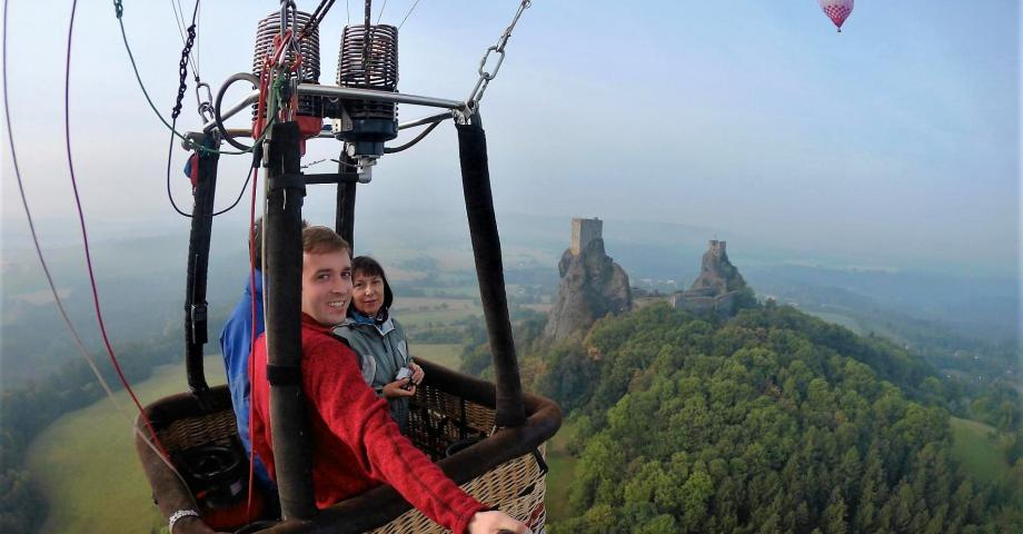Hot air balloon romantic flight - Bohemian Paradise