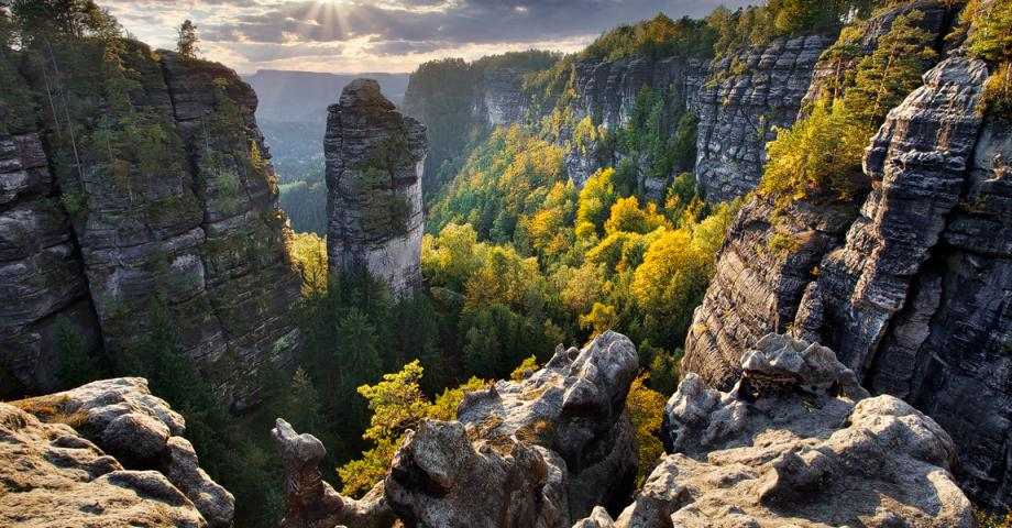 Bohemian Switzerland - sandstone canyon